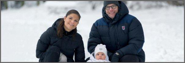 Kroonprinsesselijk gezin Zweden - winter 2012