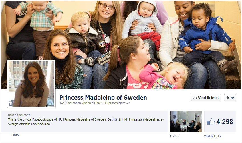 Officiële Facebook Prinses Madeleine Van Zweden 7 December