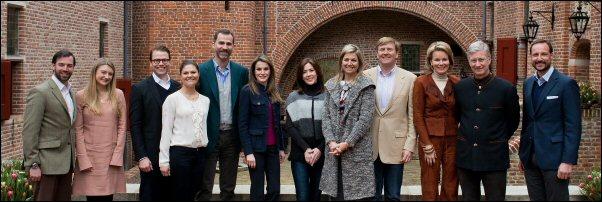 Willem-Alexander en Máxima; bezoek van collega's