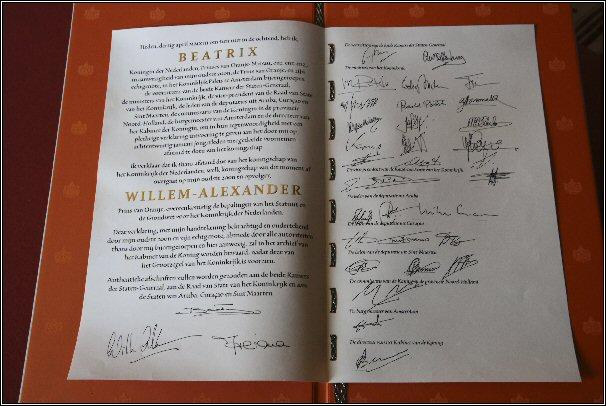 Koningin Beatrix; Akte van Abdicatie